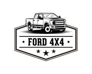 Ford F150 Pickup Truck Sign Symbol Vintage Logo Vector