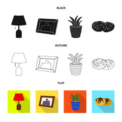 Isolated object of dreams and night icon. Collection of dreams and bedroom stock symbol for web.
