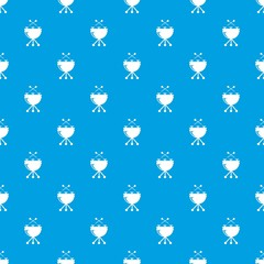 Drums pattern vector seamless blue repeat for any use
