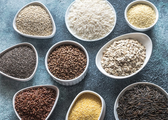 Assortment of gluten free grains