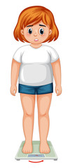 An overweight woman figure