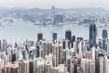 aerial view of Hongkong