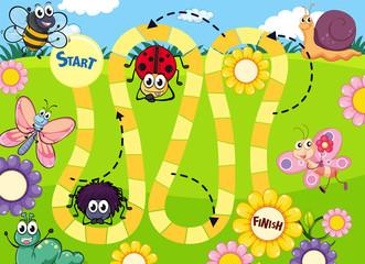 Fun insect board game template