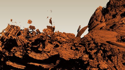 canyon texture background computer generated