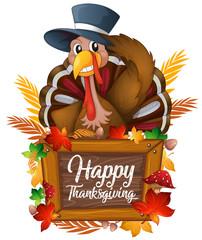 A turkey on autumn icon