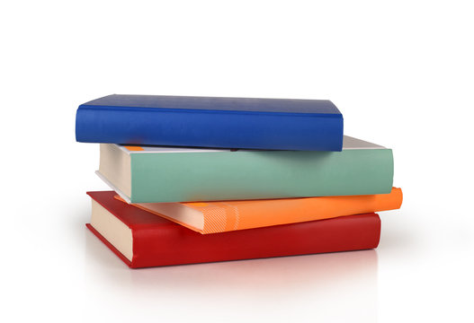 color books stack isolated