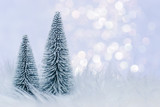 Vektor illustration winterwald baum fichte oder tanne im - Winterlandschaft dekoration ...