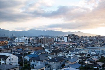 cloudy day fukuoka city Japan
