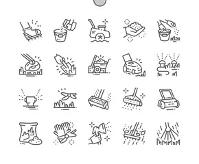 Lawn care Well-crafted Pixel Perfect Vector Thin Line Icons 30 2x Grid for Web Graphics and Apps. Simple Minimal Pictogram
