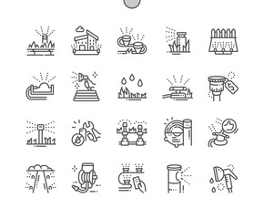 Automatic lawn watering Well-crafted Pixel Perfect Vector Thin Line Icons 30 2x Grid for Web Graphics and Apps. Simple Minimal Pictogram