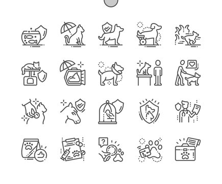 Pet Insurance Well-crafted Pixel Perfect Vector Thin Line Icons 30 2x Grid for Web Graphics and Apps. Simple Minimal Pictogram