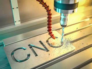 3d rendering of cnc machine