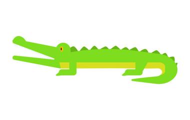 Crocodile icon. Flat illustration of crocodile vector icon for web design
