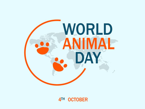 Happy world animal day concept background. Flat illustration of happy world animal day vector concept background for web design