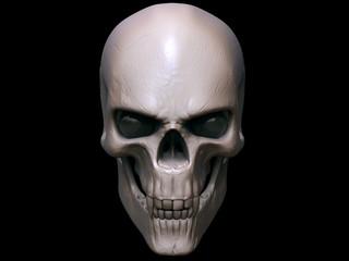 Creepy angry vampire skull