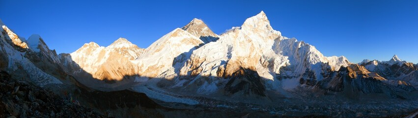 mount Everest sunset panoramic view