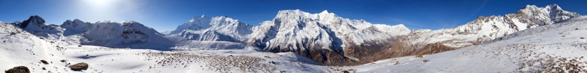 Panoramic view of Annapurna Himal