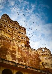 Mehrangarh Fort ramparts vertical