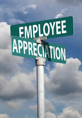 employee appreciation sign