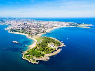 Santander city aerial view, Spain Fototapete