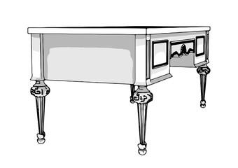 writing desk vector