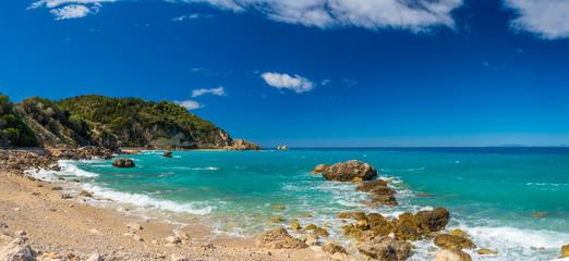 Blue waters of Ionian sea, near Agios Nikitas, Lefkada