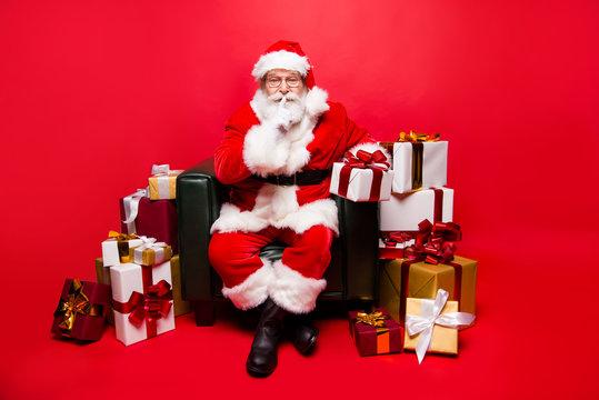 December noel party! Full legs body size stylish aged Santa in w
