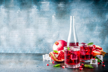 Pomegranate fall cold beverage