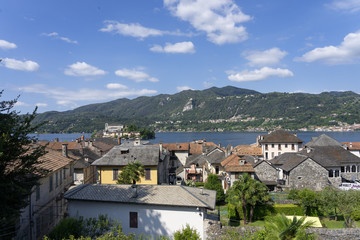 View of Orta and its lake