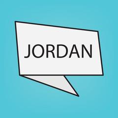 Jordan word on sticker- vector illustration