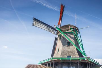 Panorama mit Windmühlen in Holland, Niederlande