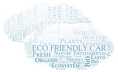 Eco Friendly Car word cloud.