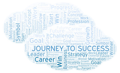 Journey To Success word cloud.