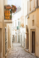 Otranto, Apulia - A dreamily alleyway within the old town of Otranto in Italy
