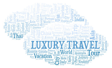 Luxury Travel word cloud.