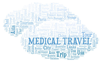Medical Travel word cloud.
