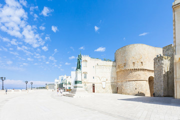Otranto, Apulia - Promenade of Otranto in front of the historic city gate