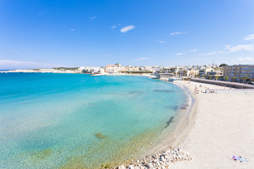 Otranto, Apulia - Relaxing at the beautiful beach bay of Otranto in Italy