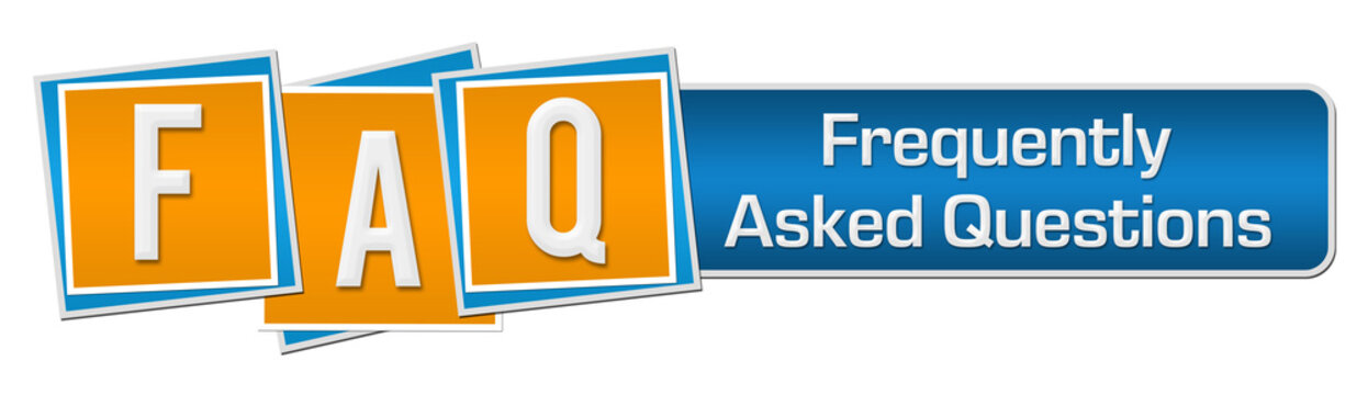 FAQ - Frequently Asked Questions Blue Orange Squares Bar