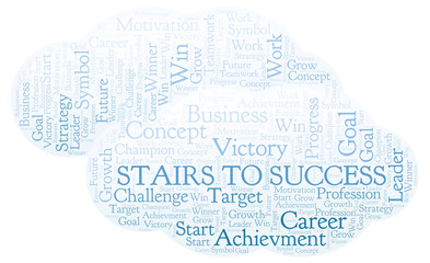 Stairs To Success word cloud.