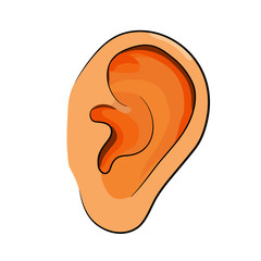 ear in flat and simple design.