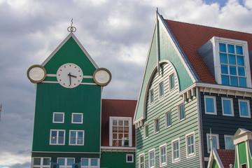 Historische Häuserfront in Holland