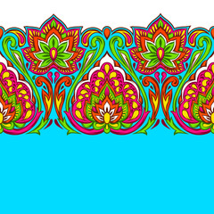 Indian ethnic seamless pattern.