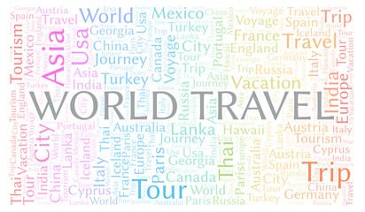 World Travel word cloud.