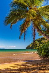 Beautiful african beach of Nosy be in Madagascar