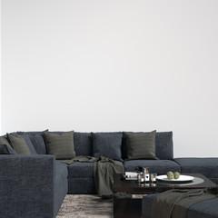 Interior Living Room Wall Gallery Mockup