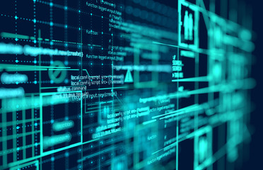 Complex Futuristic Big Data Background