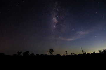 Sky background at night and Milkyway