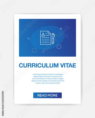 curriculum vitae icon infographic