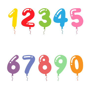 Party balloon numbers set
